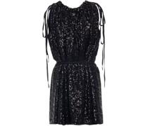 Taylor Minikleid aus Chiffon mit Pailletten und Raffung