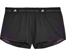 Mesh-trimmed shell shorts