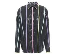 Iris Bedrucktes Hemd aus Georgette mit Pailletten