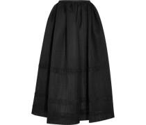 Maribel embroidered cotton-blend organza midi skirt