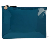 Margo Patent-leather Clutch Petrol