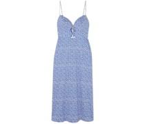 Jana Cutout Printed Cotton-blend Midi Dress