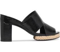 Varenna patent-leather mules