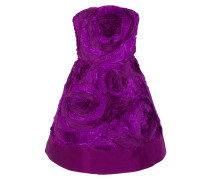 Appliquéd Silk-taffeta And Organza Mini Dress Lila
