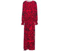Shir Ruffle-trimmed Floral-print Georgette Maxi Dress