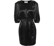 Camil Crinkled-satin Mini Wrap Dress