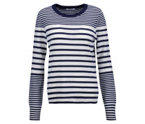 Shane Striped Cashmere Sweater Navy