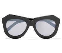 Cat-eye Acetate Sunglasses Schwarz