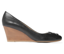 Lowell Leather Wedge Pumps Schwarz