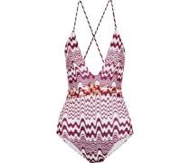 Mare crochet-knit swimsuit