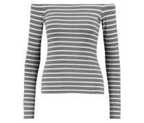 Jacqueline off-the-shoulder striped jersey top