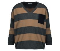 Striped Cashmere Sweater Anthrazit