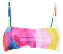 Bandeau-bikini-oberteil mit Print