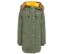 Faux Fur-trimmed Shell Hooded Down Parka