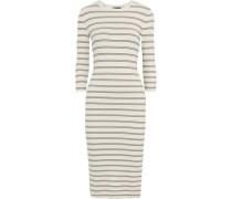 Delissa striped stretch-knit midi dress