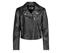 Justine faux leather biker jacket