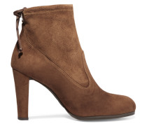 Glove Stretch-suede Ankle Boots Braun