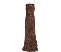 The Carla Leopard-print Silk-chiffon Maxi Dress