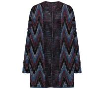 Reversible Intarsia-knit Cardigan Mehrfarbig