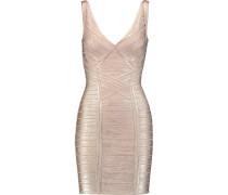 Coated-bandage Mini Dress Roségold