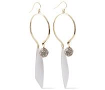 -tone, Crystal And Enamel Earrings