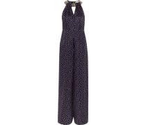 Embellished polka-dot silk-chiffon jumpsuit