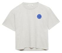 T-shirt aus Meliertem Baumwoll-jersey mit Print