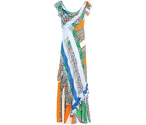 Grand Voyage Ruffled Printed Voile Maxi Dress