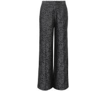 Arwen Silk-blend Jacquard Wide-leg Pants