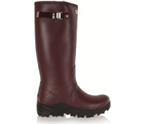 Tall Snow Wellington Shearling-lined Rubber Boots Burgunder