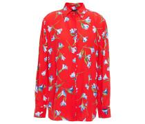 Floral-print Crepe Shirt