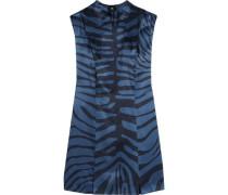 Printed silk-jacquard dress