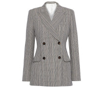 Moore Prince Of Wales Checked Cotton And Linen-blend Blazer