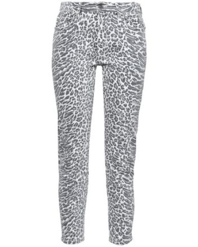 The Stiletto Leopard-print Mid-rise Skinny Jeans Animal Print  3