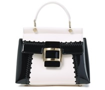 Viv Cabas Mini Smooth And Glossed-leather Tote