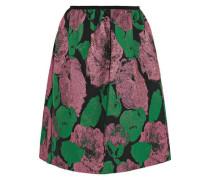 Loren Rose metallic jacquard mini skirt