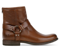 Phillip Harness Leather Boots Braun