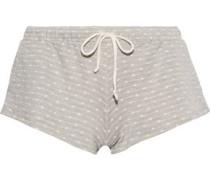 Flynn polka-dot stretch-jersey pajama shorts