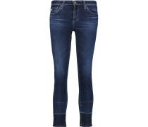 Stilt Cropped Low-rise Skinny Jeans Dunkler Denim