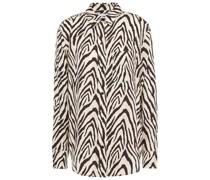 Hemd aus Twill mit Zebraprint