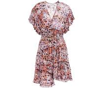 Jenka Tiered Printed Fil Coupé Chiffon Mini Dress