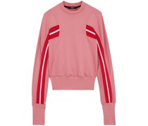 Striped French Cotton-blend Terry Sweatshirt