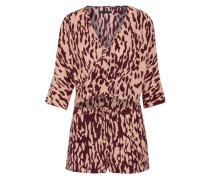 Bali Margot cutout wrap-effect printed voile playsuit