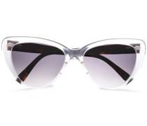 Cat-eye Acetate Sunglasses Off-white Size --