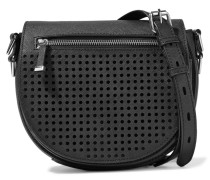 Astor Perforated And Textured-leather Shoulder Bag Schwarz
