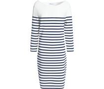 Striped Stretch-knit Mini Dress