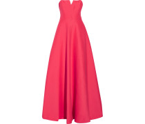 Strapless Cotton And Silk-blend Gown Papaya