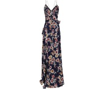 Wrap-effect Floral-print Silk-georgette Maxi Dress