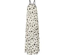 Printed Silk And Cotton-blend Maxi Dress Elfenbein