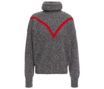 Intarsia Wool-blend Turtleneck Sweater